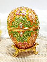 Недорогие -пасхальное яйцо Жен. Античный Украшенный драгоценностями Русский Круглый Шкатулка Коробка Брелок Назначение Подарок Свидание На каждый день Пасха пасхальное яйцо Бижутерия