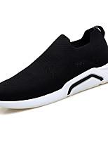 Недорогие -Муж. Комфортная обувь Эластичная ткань / Tissage Volant Весна На каждый день Мокасины и Свитер Нескользкий Черный / Серый