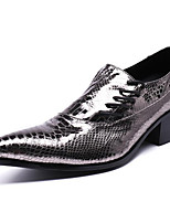cheap -Men's Oxfords Business / Casual / British Daily Party & Evening Cowhide Handmade Non-slipping Wear Proof Silver Fall / Winter