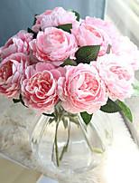 Недорогие -Искусственные Цветы 10 Филиал Классический европейский Простой стиль Розы Букеты на стол