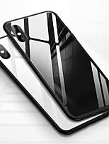 Недорогие -Кейс для Назначение Apple iPhone XS / iPhone XS Max Защита от удара / Прозрачный Кейс на заднюю панель Однотонный Твердый Закаленное стекло для iPhone XS / iPhone XR / iPhone XS Max