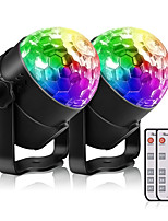Недорогие -YouOKLight 2pcs 3 W 200 lm 3 Светодиодные бусины Пульт управления Светодиодные театральные лампы RGB 85-265 V Деловой Дом / офис Детская комната