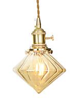 Недорогие -Подвесные лампы Рассеянное освещение Латунь Медь Стекло Мини, Регулируется 110-120Вольт / 220-240Вольт