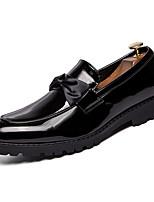 Недорогие -Муж. Комфортная обувь Полиуретан Весна На каждый день Мокасины и Свитер Нескользкий Белый / Черный / Синий