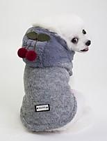 Недорогие -Собаки Плащи Одежда для собак Английский Лозунг Темно-синий Серый Плюш Костюм Назначение Бульдог Шиба-Ину Мопс Осень Зима Универсальные На каждый день Наколенники