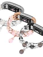 Недорогие -Ремешок для часов для Fitbit Charge 2 Fitbit Дизайн украшения Нержавеющая сталь / Керамика Повязка на запястье
