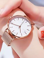 Недорогие -Жен. Наручные часы Кварцевый Нержавеющая сталь Розовое золото Защита от влаги Новый дизайн Аналоговый На каждый день Мода - Белый Черный