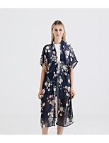 cheap -Short Sleeve Polyester Wedding / Party / Evening Women's Wrap With Pattern / Print Coats / Jackets