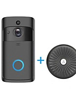 Недорогие -hqcam беспроводной wi-fi дверной звонок камера смарт-Wi-Fi видео домофон дверной звонок видео дверной звонок звонок встроенный динамик для квартир и будильник