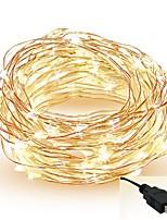 Недорогие -5 метров Гирлянды 50 светодиоды SMD 0603 Тёплый белый / Белый / Красный Можно резать / Для вечеринок / Декоративная 5 V