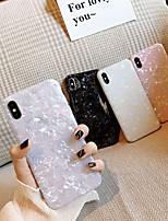 Недорогие -Seasonal Кейс для Назначение Apple iPhone XS Max Ультратонкий / С узором Кейс на заднюю панель Мрамор Мягкий ТПУ для iPhone XS Max