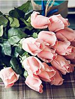 Недорогие -Искусственные Цветы 5 Филиал Классический Свадьба Простой стиль Розы Вечные цветы Букеты на стол
