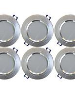 Недорогие -YouOKLight 6шт 5 W 400 lm 10 Светодиодные бусины Встроенные LED даунлайт Тёплый белый 85-265 V Дом / офис