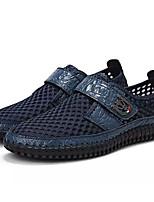 Недорогие -Муж. Комфортная обувь Сетка / Полиуретан Лето На каждый день Мокасины и Свитер Нескользкий Черный / Коричневый / Синий
