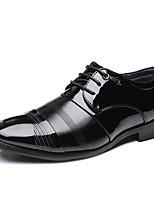 Недорогие -Муж. Официальная обувь Микроволокно Весна / Осень Английский Туфли на шнуровке Нескользкий Черный / Для вечеринки / ужина