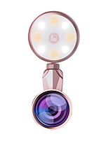 """Недорогие -Brelong светодиодный селфи вспышка света красоты артефакт 9 уровней заполнения регулировки света с объективом """"рыбий глаз"""" широкоугольный объектив макрообъектив 1 шт"""