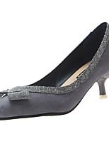 Недорогие -Жен. Полиуретан Весна На каждый день Обувь на каблуках На каблуке-рюмочке Заостренный носок Черный / Бежевый / Серый