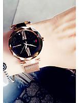 Недорогие -Жен. Нарядные часы Кварцевый Черный / Синий / Фиолетовый Защита от влаги Аналоговый На каждый день Мода - Лиловый Синий Розовое золото