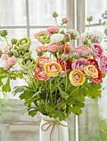 Недорогие -Искусственные Цветы 1 Филиал Односпальный комплект (Ш 150 x Д 200 см) Современный современный Пастораль Стиль Камелия Букеты на стол