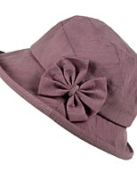 Недорогие -Жен. Симпатичные Стиль Широкополая шляпа / Шляпа от солнца Однотонный