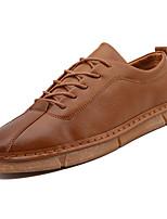 Недорогие -Муж. Комфортная обувь Полиуретан Весна На каждый день Кеды Нескользкий Белый / Черный / Коричневый