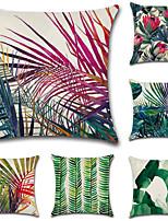Недорогие -6 штук Хлопок / Лён Наволочки, Деревья / Листья Лист Современный стиль Природа Пляжный стиль