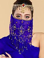 Недорогие -Индийская девушка Болливуд Взрослые Жен. азиатский Пайетки Churidar Salwar Suit Сари Назначение Выступление фестиваль Тюль Пайетки вуаль