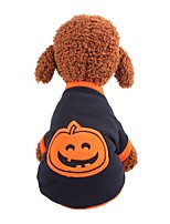 cheap -Dog Cat Coat Shirt / T-Shirt Sweatshirt Pumpkin Casual / Daily Dog Clothes Blue Costume Fleece XS S M