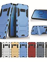 Недорогие -Кейс для Назначение SSamsung Galaxy Galaxy S10 / Galaxy S10 Plus со стендом Чехол броня Твердый ТПУ для S9 / S9 Plus / S8 Plus