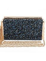 Недорогие -Жен. Мешки PU Вечерняя сумочка Блеск / С кисточками Сплошной цвет Золотой / Черный / Серый