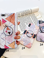 Недорогие -Кейс для Назначение Apple iPhone XR / iPhone XS Max со стендом / Ультратонкий / С узором Кейс на заднюю панель Геометрический рисунок / Мрамор Мягкий ТПУ для iPhone XS / iPhone XR / iPhone XS Max