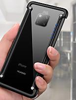 Недорогие -oatsbasf Кейс для Назначение Huawei Huawei Mate 20 Pro Защита от удара / Своими руками / Игровой случай Бампер Однотонный Твердый Алюминий для Huawei Mate 20 pro