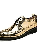 Недорогие -Муж. Официальная обувь Полиуретан Весна Классика / Английский Туфли на шнуровке Дышащий Золотой / Черный / Серебряный / Свадьба / Для вечеринки / ужина