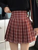 Недорогие -женские выше колена линии юбки - гусиные лапки