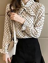 Недорогие -Жен. Блуза Тонкие Горошек