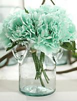 Недорогие -Искусственные Цветы 5 Филиал Классический европейский Свадебные цветы Пионы Букеты на стол