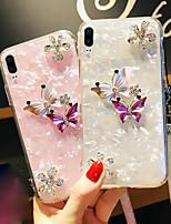 Недорогие -Кейс для Назначение Apple iPhone XS Max / iPhone 6 Сияние и блеск Кейс на заднюю панель Однотонный Твердый Акрил для iPhone XS / iPhone XR / iPhone XS Max