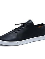 Недорогие -Муж. Комфортная обувь Полиуретан Весна На каждый день Кеды Нескользкий Белый / Черный