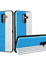 Недорогие -Кейс для Назначение SSamsung Galaxy A8 Plus 2018 / A8 2018 Бумажник для карт / Защита от удара / со стендом Кейс на заднюю панель Геометрический рисунок / броня Твердый ПК для A5(2018) / A6 (2018