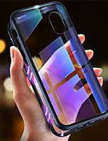 Недорогие -Кейс для Назначение Apple iPhone XR / iPhone XS Max Ультратонкий / Прозрачный / Магнитный Чехол Однотонный Твердый Закаленное стекло / Металл для iPhone XS / iPhone XR / iPhone XS Max