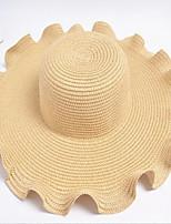 Недорогие -Жен. Винтаж Соломенная шляпа Однотонный