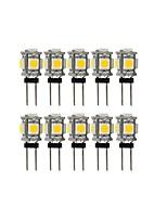 Недорогие -10 шт. 2 W 100 lm G4 Двухштырьковые LED лампы T 5 Светодиодные бусины SMD 5050 Милый Тёплый белый / Холодный белый 12 V
