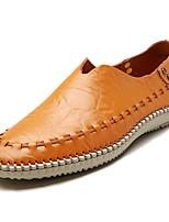 Недорогие -Муж. Комфортная обувь Полиуретан Весна На каждый день Мокасины и Свитер Нескользкий Синий / Темно-русый / Хаки