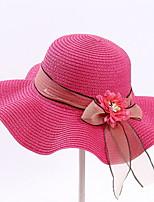 Недорогие -Жен. Симпатичные Стиль Соломенная шляпа Однотонный