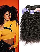 Недорогие -3 Связки Бразильские волосы Естественные прямые Не подвергавшиеся окрашиванию 100% Remy Hair Weave Bundles Человека ткет Волосы Удлинитель Пучок волос 8-28 дюймовый Нейтральный Ткет человеческих волос