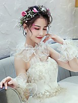 cheap -Sleeveless Tulle Wedding / Party / Evening Women's Wrap With Printing Capelets