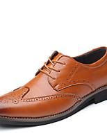 Недорогие -Муж. Официальная обувь Синтетика Весна / Наступила зима Деловые / На каждый день Туфли на шнуровке Нескользкий Черный / Коричневый / Синий