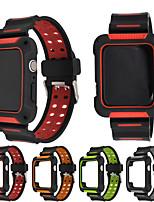Недорогие -Ремешок для часов для Серия Apple Watch 5/4/3/2/1 Apple Современная застежка силиконовый Повязка на запястье