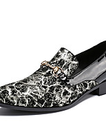 cheap -Men's Novelty Shoes Nappa Leather Spring & Summer / Fall & Winter Classic / British Loafers & Slip-Ons Non-slipping Black / Party & Evening