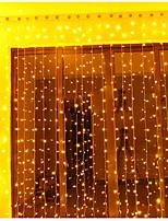 Недорогие -3 * 3 м Гирлянды 300 светодиоды Тёплый белый / RGB / Белый Творчество / Для вечеринок / Декоративная 220-240 V / 110-120 V 2pcs
